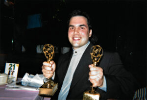 JC with his two Emmys